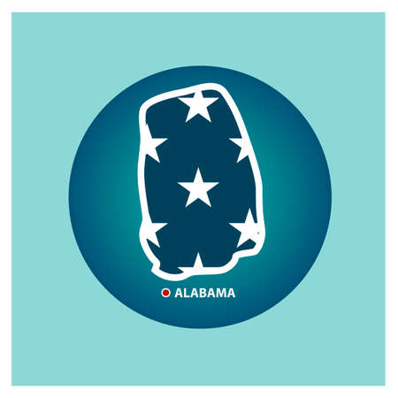 alabama state: Map of alabama state