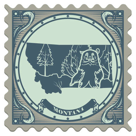 postage: Montana state postage stamp