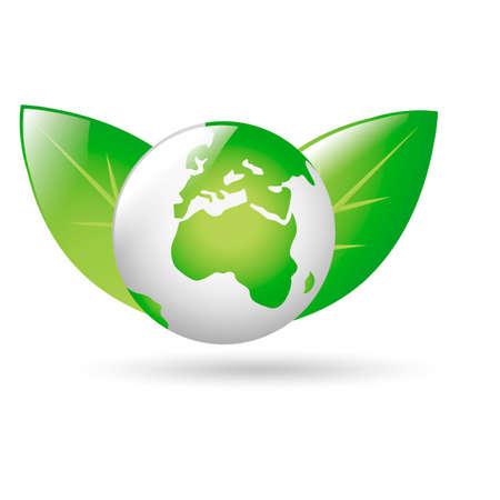 planeta verde: Planeta verde Vectores