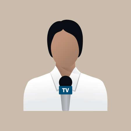 tv reporter: Tv reporter Illustration