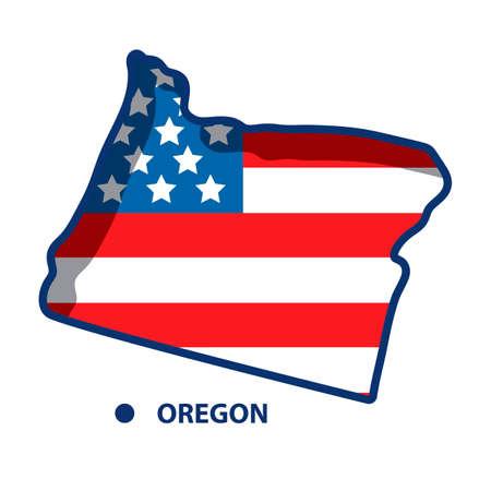 オレゴンの地図 写真素材 - 45404313