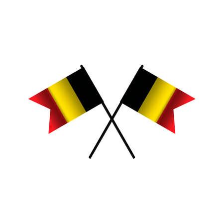 флагшток: Crossed Belgium flags Иллюстрация