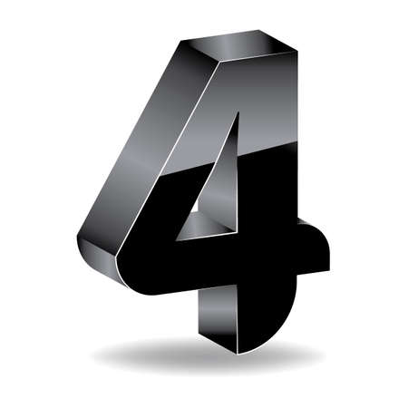 numbers icon: Number four