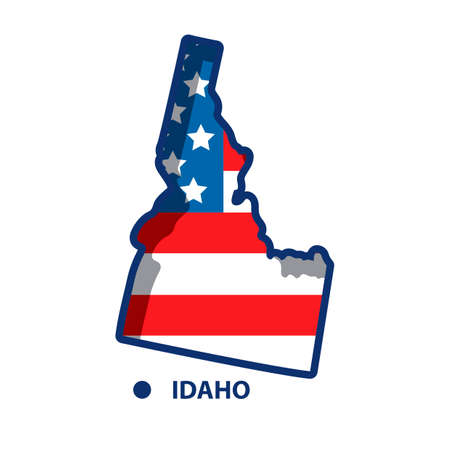 idaho state map with potatoes royalty free cliparts vectors and rh 123rf com