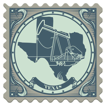 texas state: Texas state postage stamp Illustration
