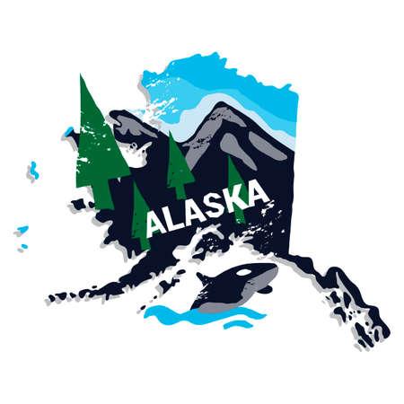 알래스카 상태 스톡 콘텐츠 - 45404441