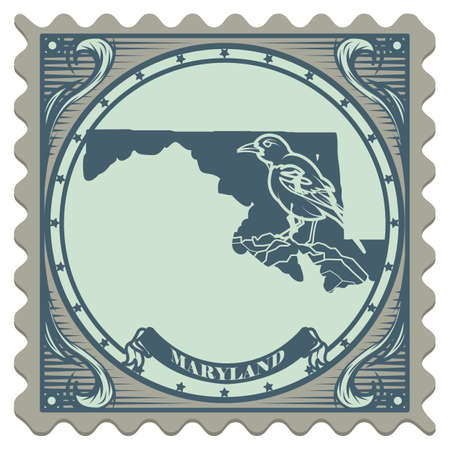 maryland: Maryland state postage stamp