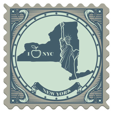 new york state: New york state postage stamp