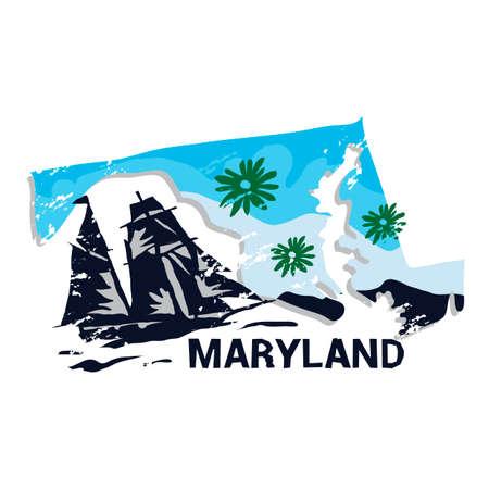 maryland: Maryland state Illustration