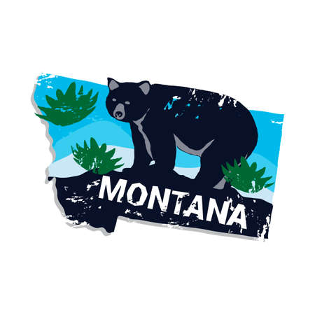 Montana state Векторная Иллюстрация