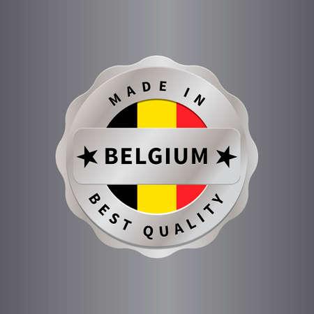 em: Made in belgium label