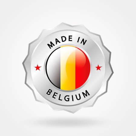 em: Feito no rótulo Bélgica Ilustra��o
