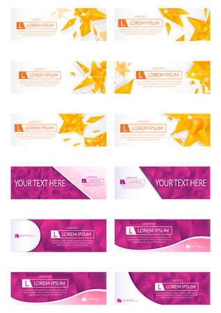 web banner: Collection of abstract web banner designs