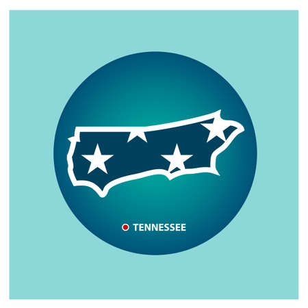 tennessee: Map of tennessee state