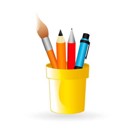 pen holder: Pen holder Illustration