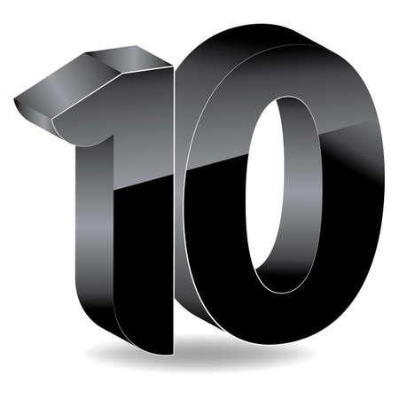 number ten: Number ten Illustration