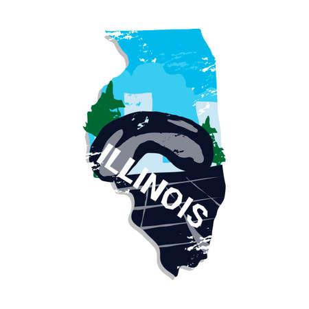 millennium: Illinois state Illustration