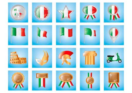 roman column: Collection of italian items Illustration