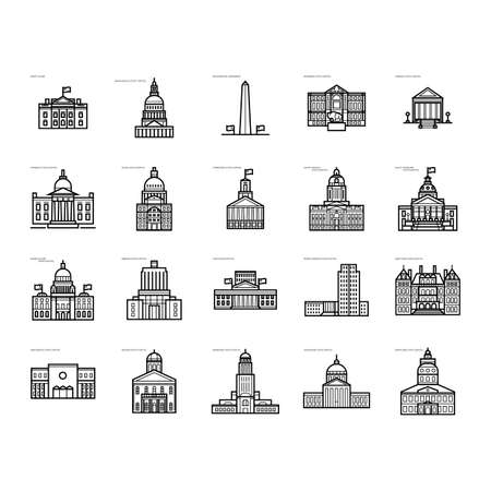 the capitol: Collection of USA government buildings