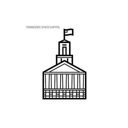 tennesse: Capitolio del estado de Tennessee Vectores