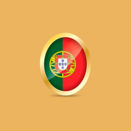 portugal flag: Portugal flag label