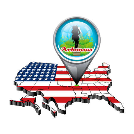 US Map With Pin Showing Ohio State Royalty Free Cliparts Vectors