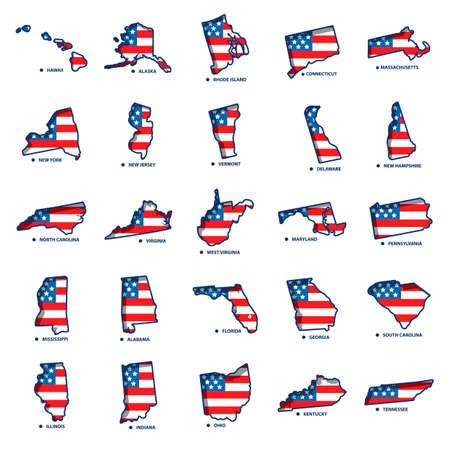 USA states maps