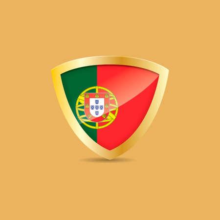 drapeau portugal: Portugal étiquette drapeau Illustration