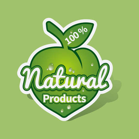 productos naturales: Natural products sticker