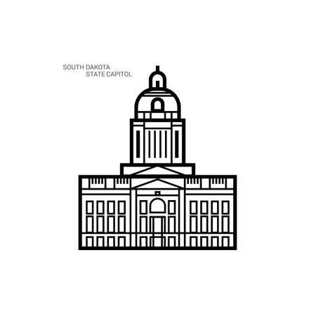 south dakota: South dakota state capitol Illustration