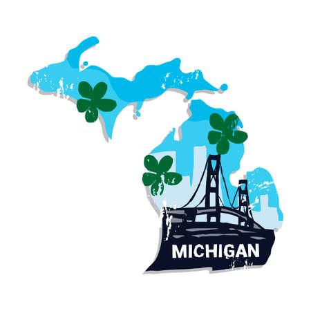 bridge in nature: Michigan state