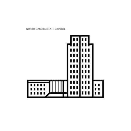 north dakota: North dakota state capitol