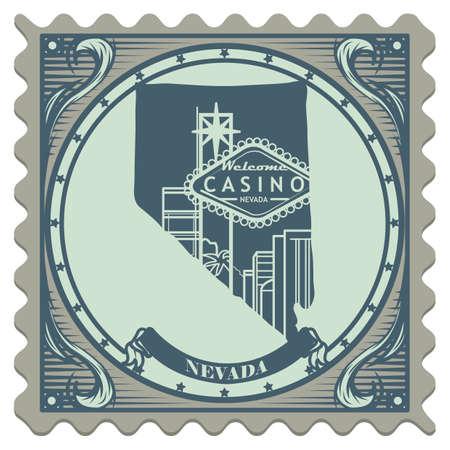 nevada: Nevada state postage stamp