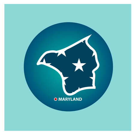 maryland: Map of maryland state