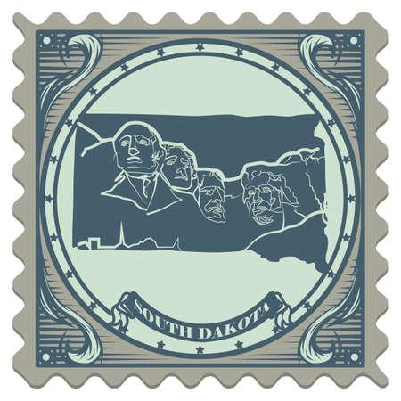 dakota: South dakota state postage stamp