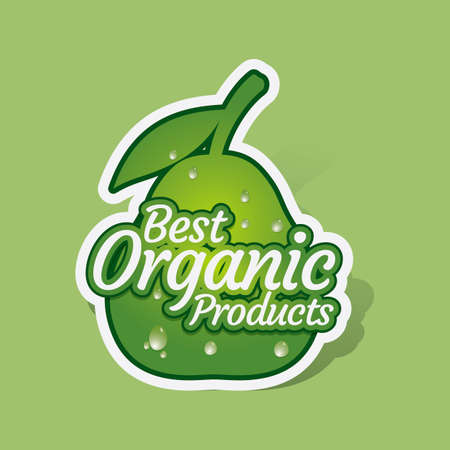 best products: Best organic products sticker Illustration