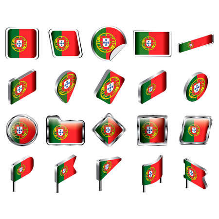 portugal flag: Portugal flag icon collection