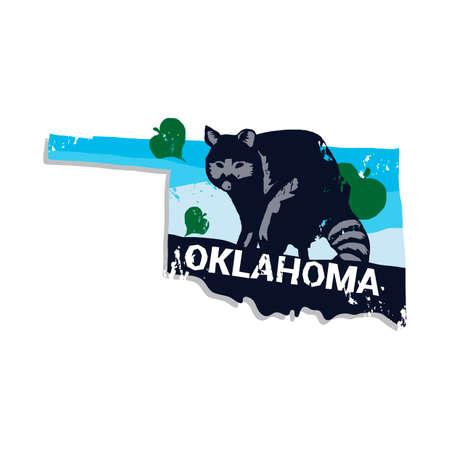 oklahoma: Oklahoma state Illustration