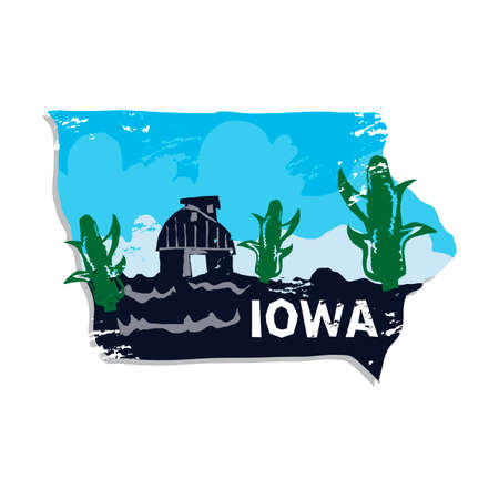 iowa agriculture: Iowa state Illustration