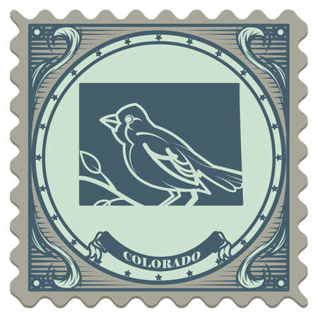 postage: Colorado state postage stamp