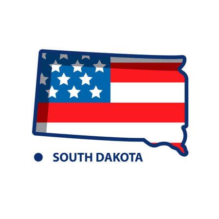 dakota: Map of south dakota