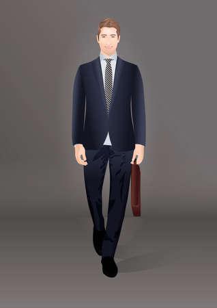 corporate people: Businessman walking