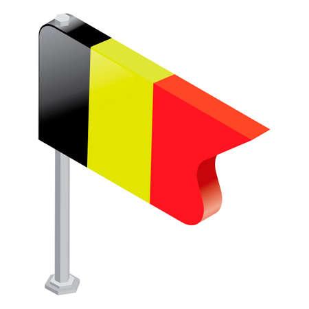 флагшток: Belgium pin icon Иллюстрация