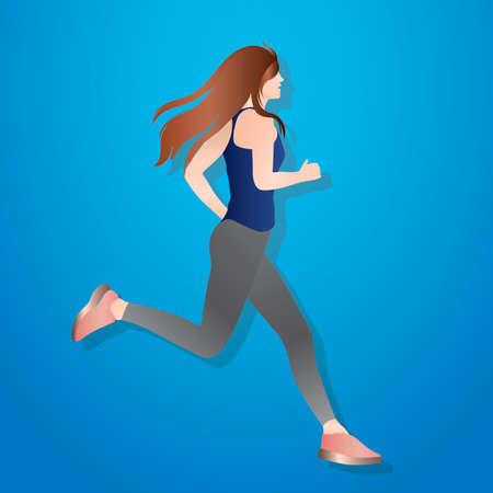donna che corre: