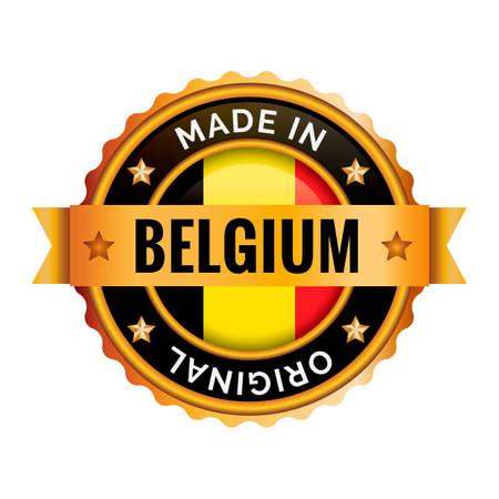 ベルギーのバッジ  イラスト・ベクター素材