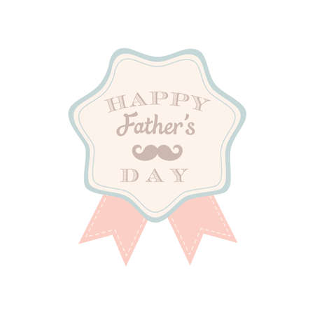 happy Fathers Day: Happy fathers day label