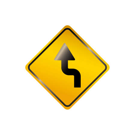 reverse: Sharp reverse left turns ahead sign