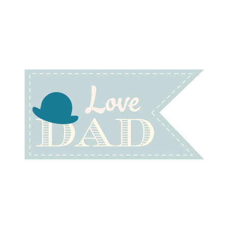 tophat: Happy fathers day label
