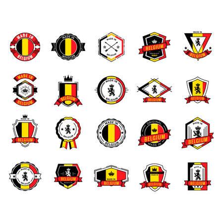 made in belgium: Set of belgium badges Illustration