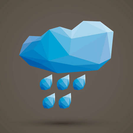 faceted: Faceted cloud and rain